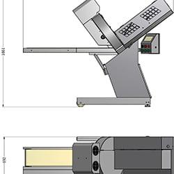 Máquina de fatiar queijo automática